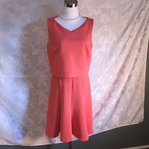 The Limited Classic Coral Sleeveless Dress